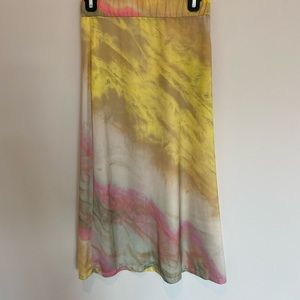 Zara water color midi skirt